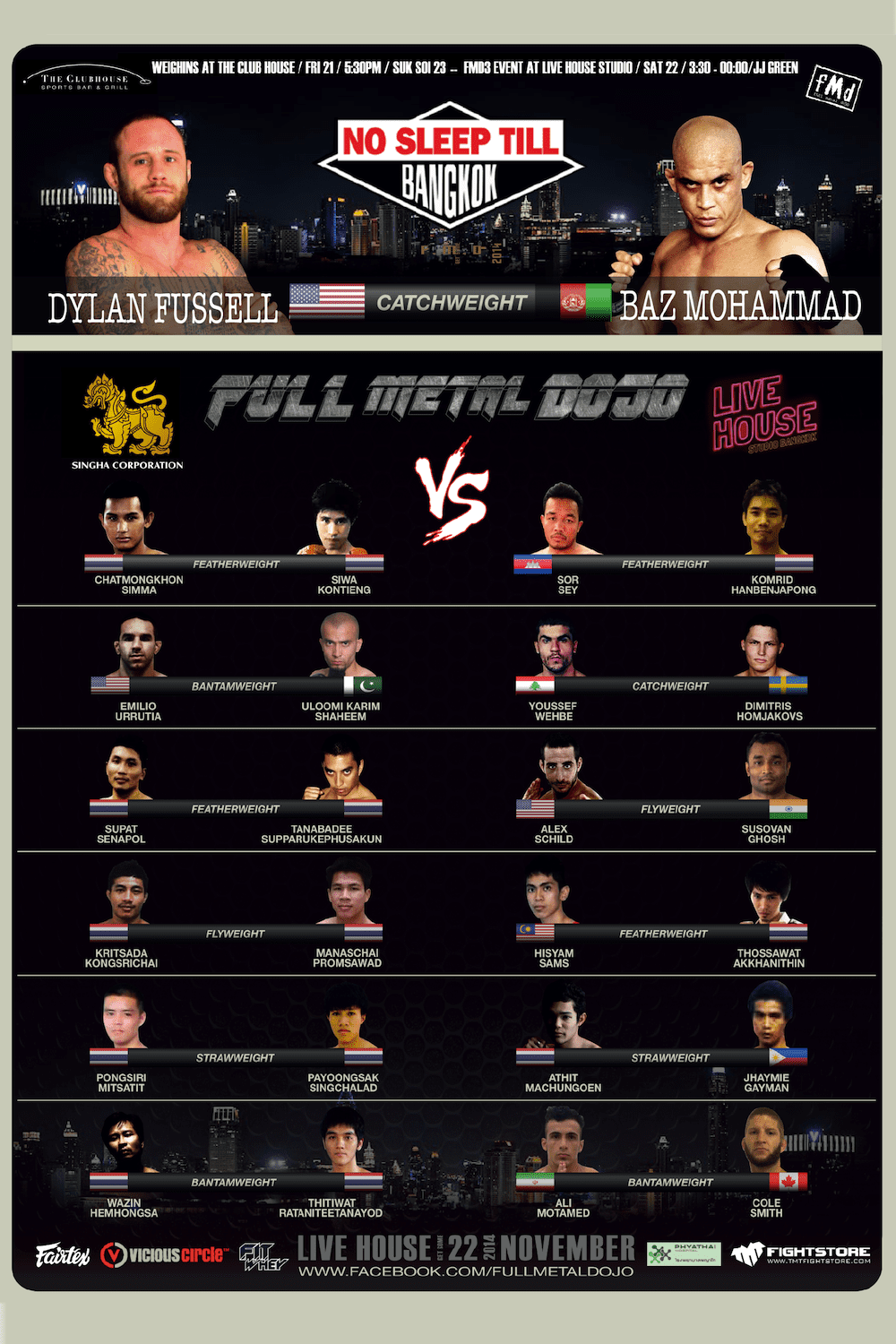 FMD3 Fight Card