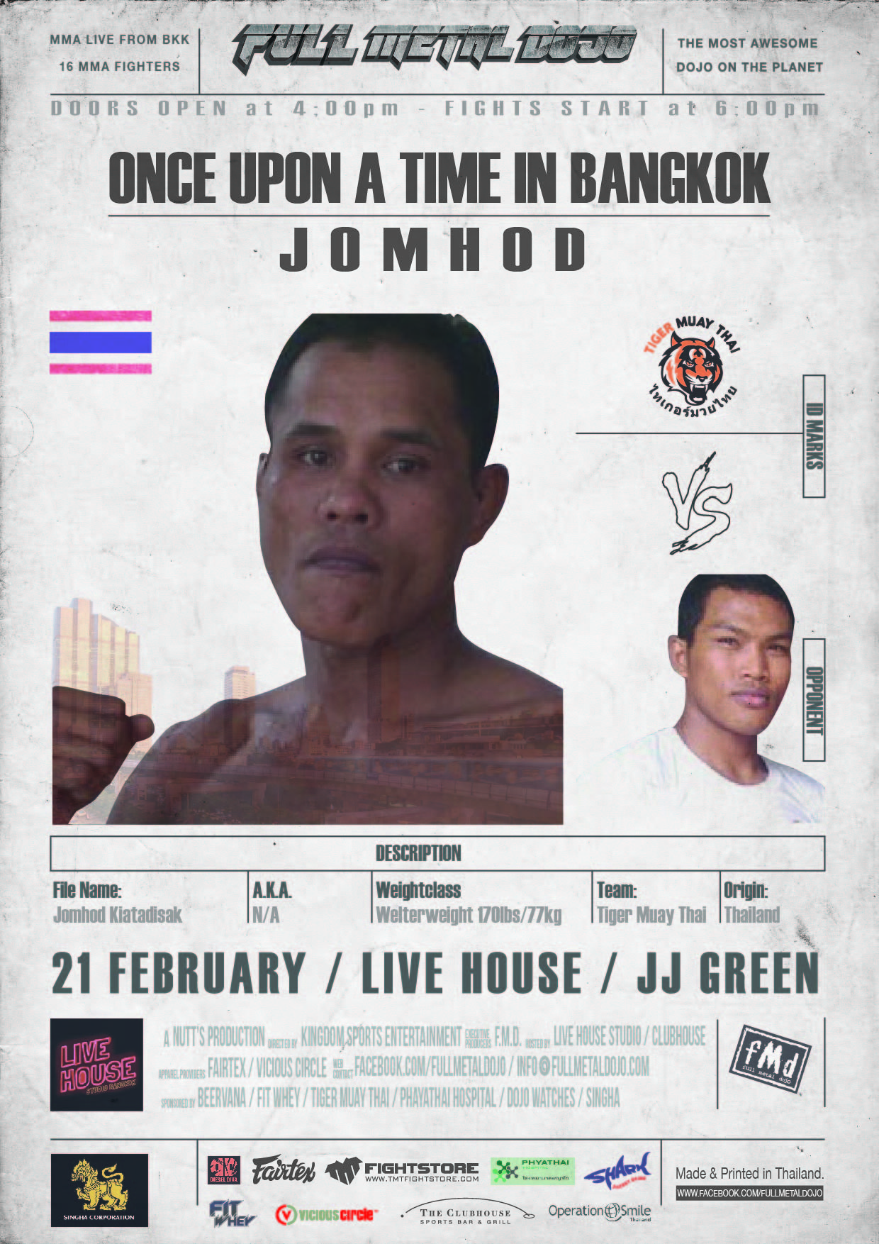 Jomhod Kiatadisak FMD4 MMA Fighter
