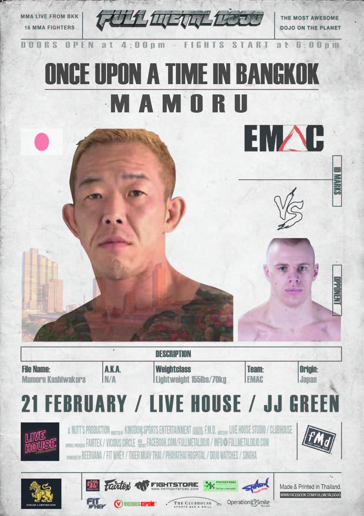 Mamoru Kashiwakura FMD4 MMA Fighter