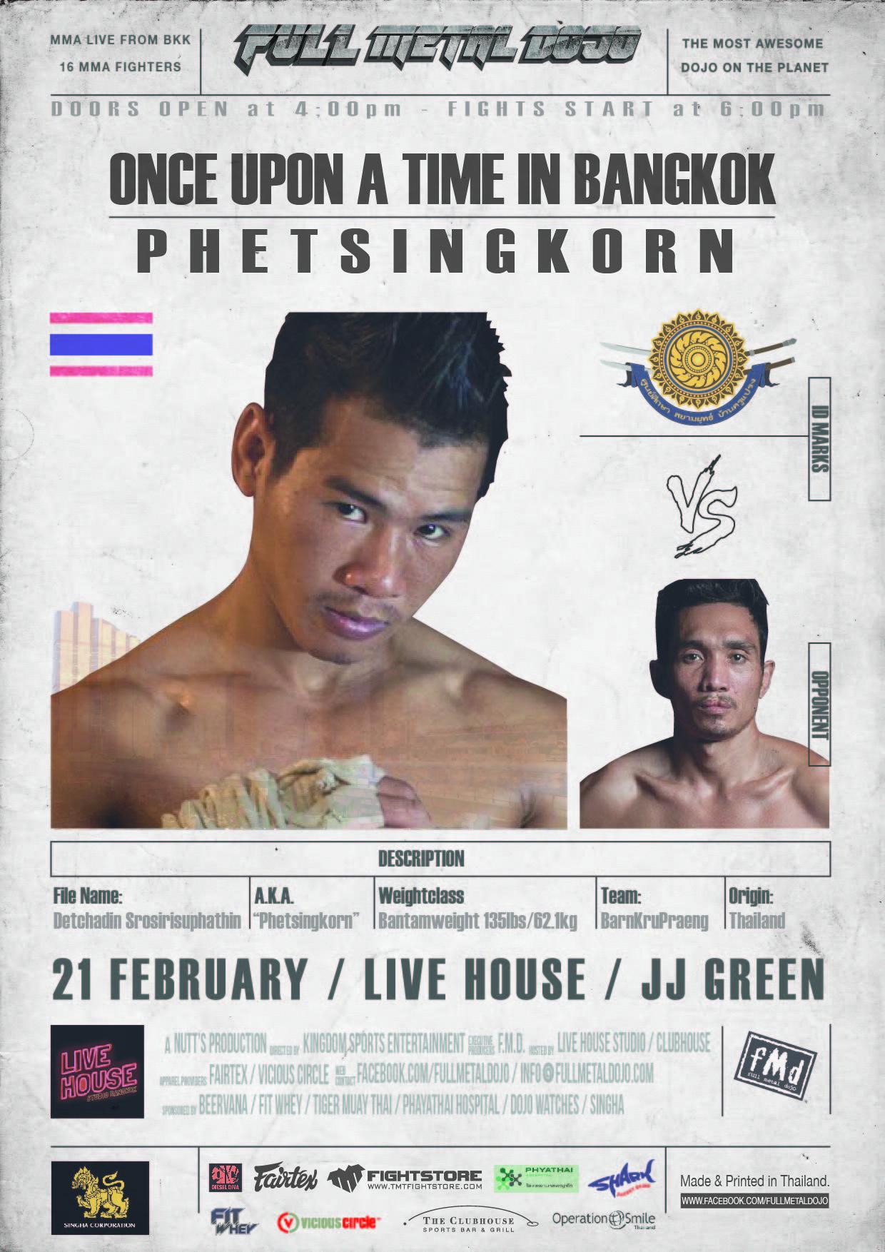 Detchadin Phetsingkorn Srosirisuphathin FMD4 MMA Fighter