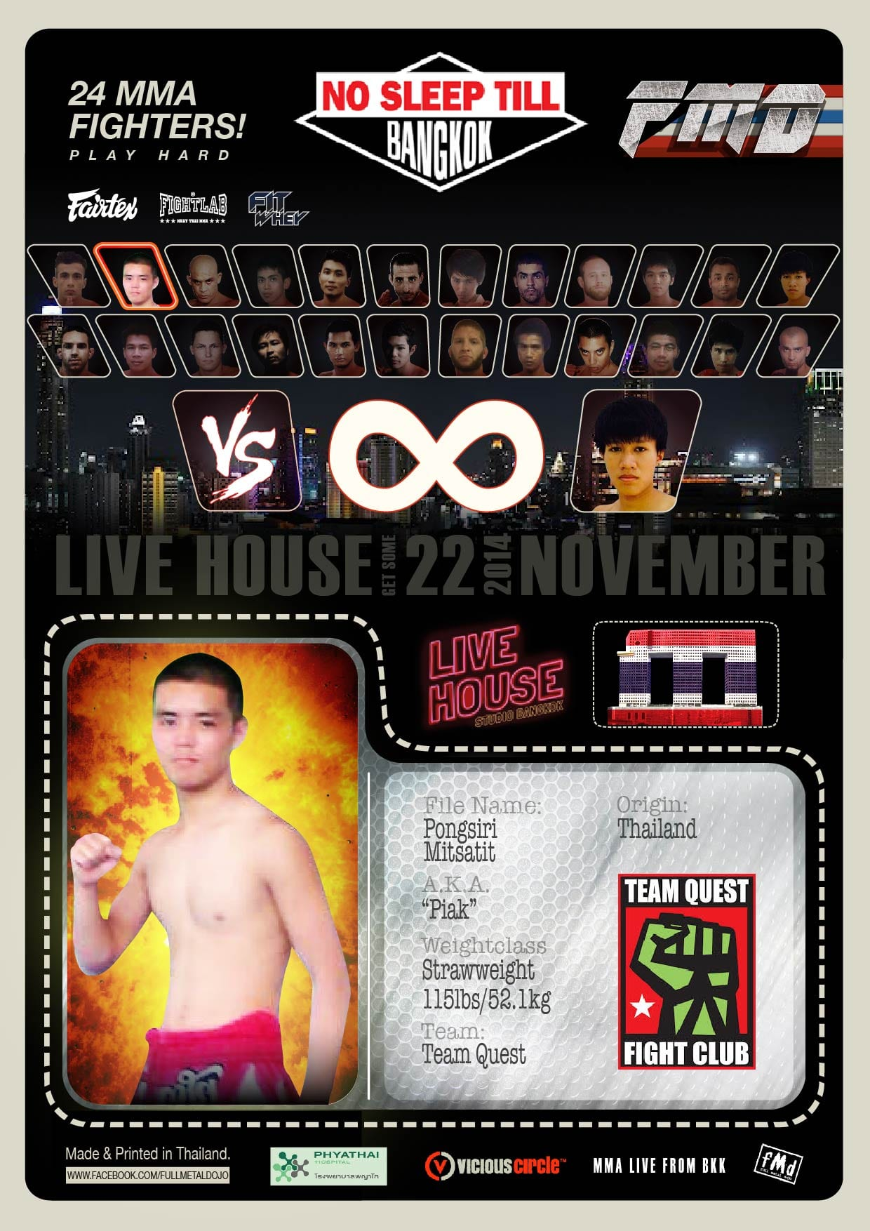 Pongsiri Piak Mitsatit MMA Fighter
