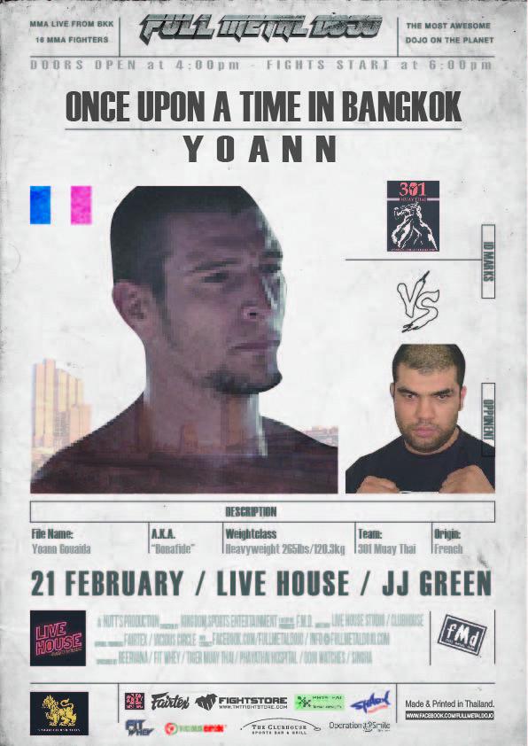 Yoann Bonafide Gouaida FMD4 MMA Fighter